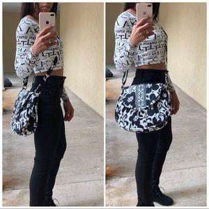 Black & White Crossbody Bag by Vera Bradley